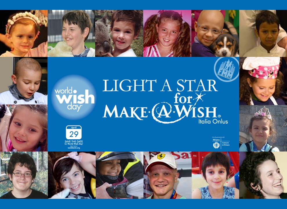 invito a evento di make a wish italia onlus